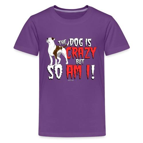 American Bulldog Crazy - Teenage Premium T-Shirt