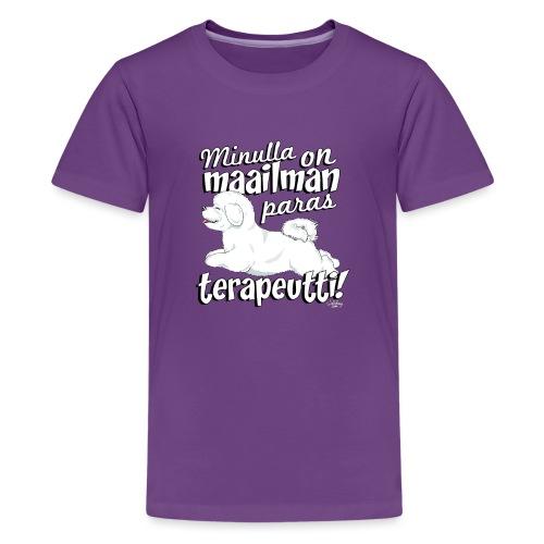bichonterapeutti - Teinien premium t-paita