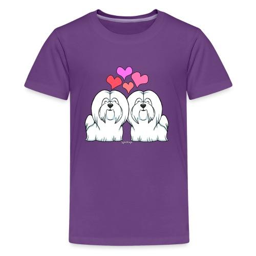 Coton De Tuléar Love - Teenage Premium T-Shirt