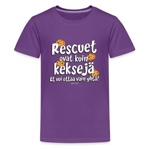 Rescue keksejä - Teinien premium t-paita