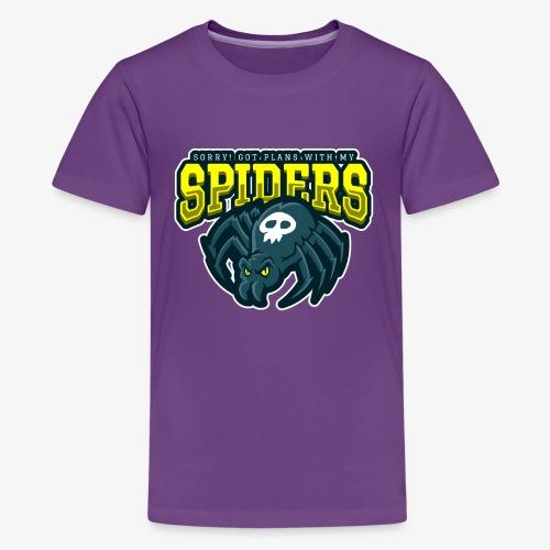 Sorry Spiderplans - Teinien premium t-paita