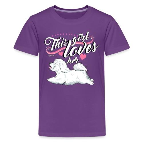 Coton De Tuléar Girl - Teenage Premium T-Shirt