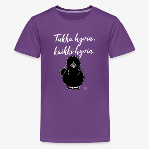 Tukka Hyvin Silkki 01 - Teinien premium t-paita
