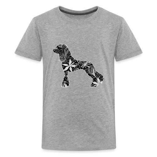 Flower Crested - Teinien premium t-paita