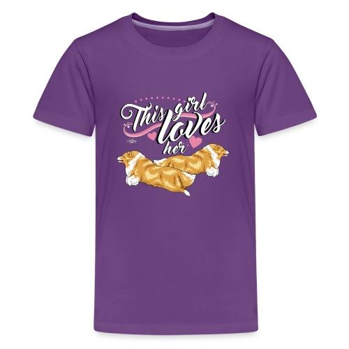 sheltiesgirl2 - Teenage Premium T-Shirt
