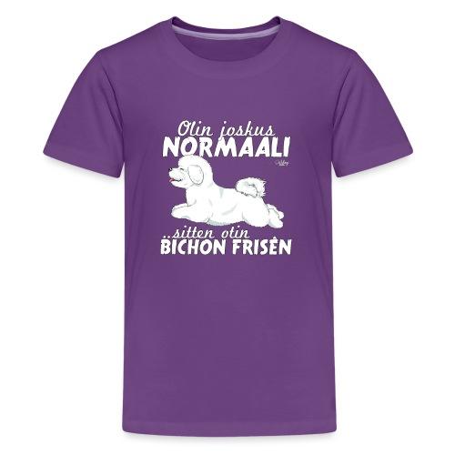 bichonnormaali - Teinien premium t-paita