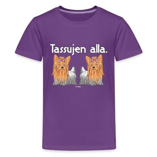 Yorkkitassujen Alla - Teinien premium t-paita