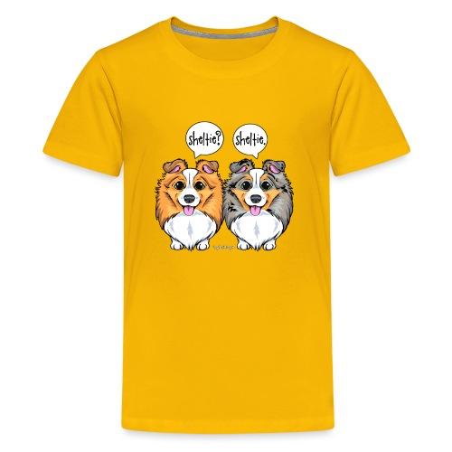 Sheltie Sheltie 3 - Teenage Premium T-Shirt