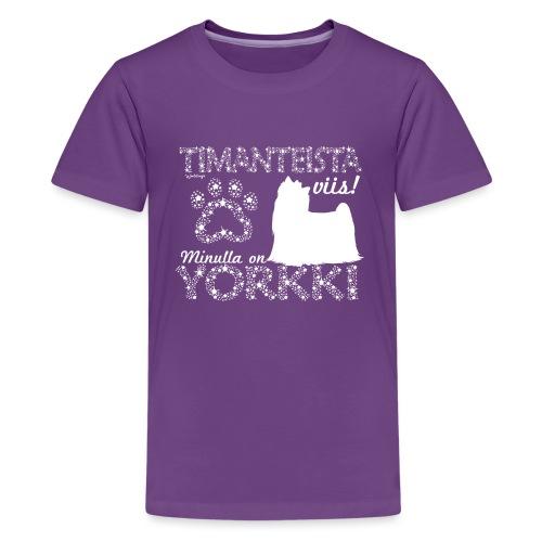 Yorkshirenterrieri Dimangi - Teinien premium t-paita