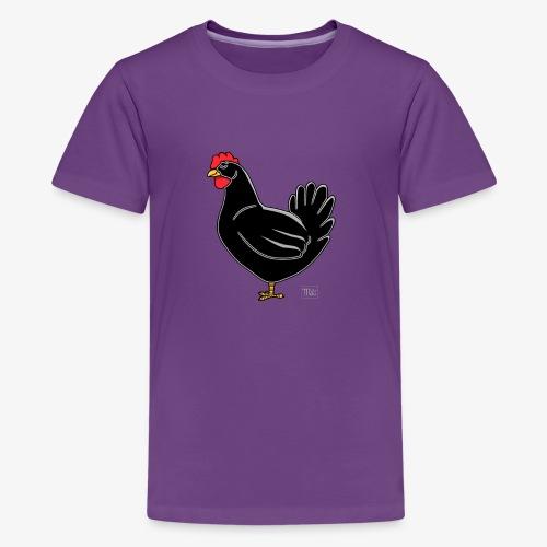 Black Chicken - Teinien premium t-paita