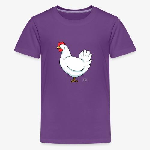 White Chicken - Teinien premium t-paita