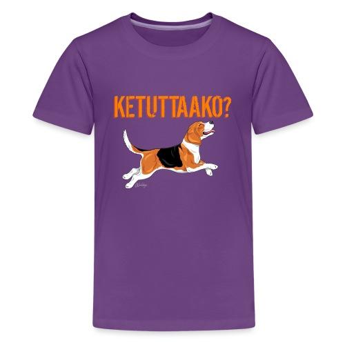 Ketuttaako Beagle - Teinien premium t-paita