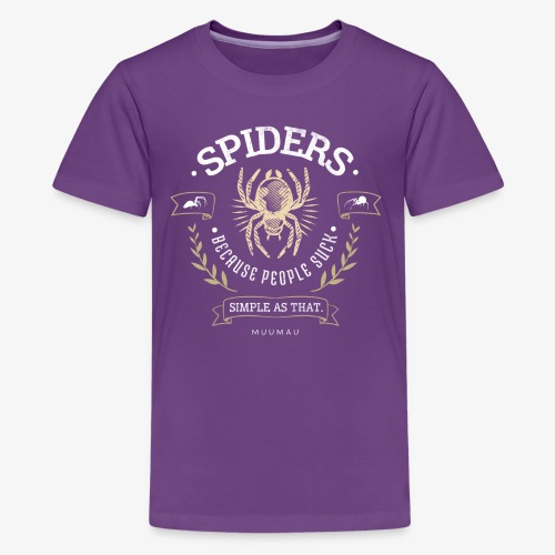 Spiders Don't Suck - Teinien premium t-paita