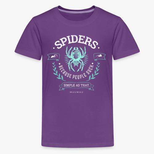 Spiders People Suck I - Teinien premium t-paita