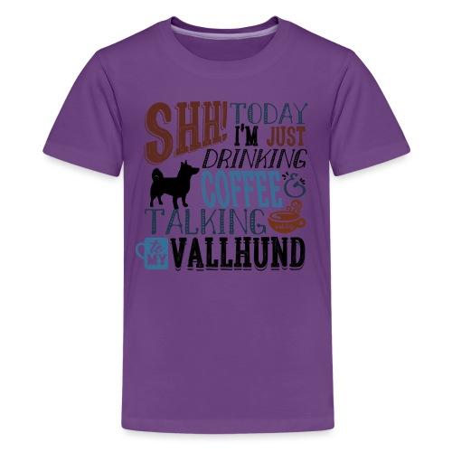 SHH Vallhund Coffee B - Teinien premium t-paita