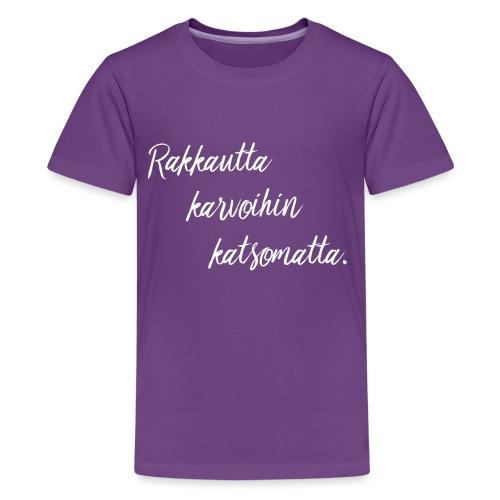rakkautta2 - Teinien premium t-paita