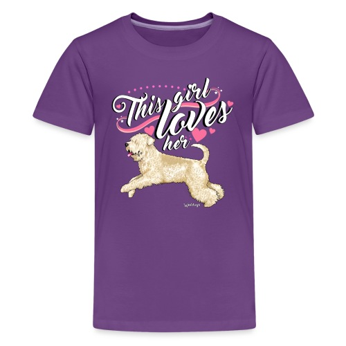 Wheaten Terrier Girl - Teenage Premium T-Shirt
