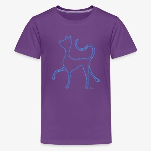 Hypnocat - Blue - Teinien premium t-paita