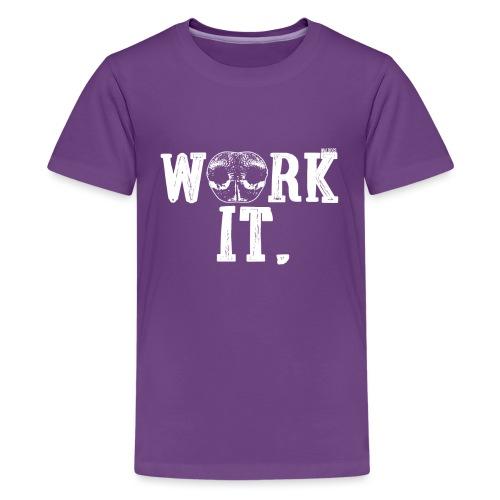 Nose Work It - Teinien premium t-paita