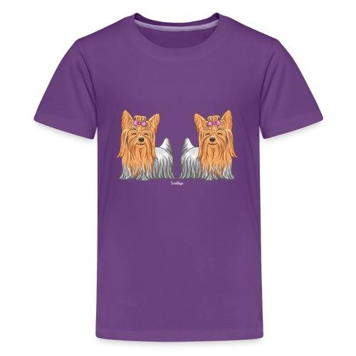Yorkie Pair - Teinien premium t-paita