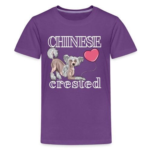 Chinese Crested II - Teinien premium t-paita