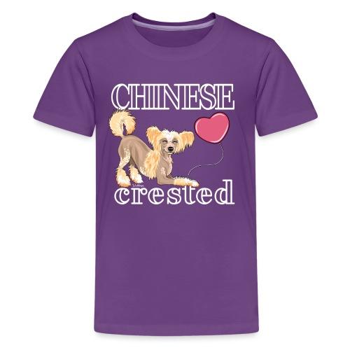 Chinese Crested V - Teinien premium t-paita