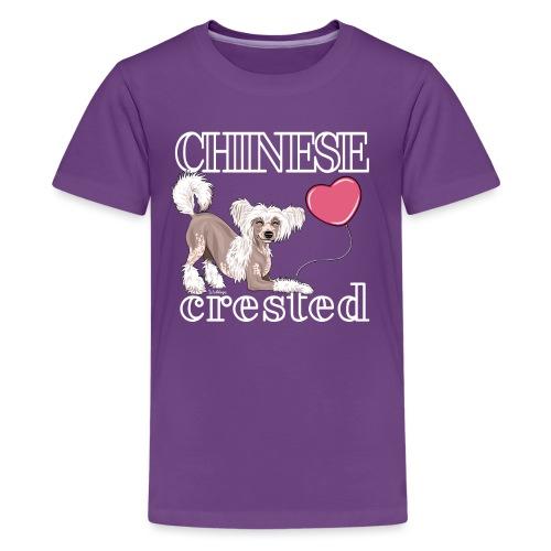 Chinese Crested I - Teinien premium t-paita