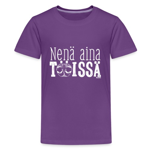 nenäainatöissä2 png - Teinien premium t-paita
