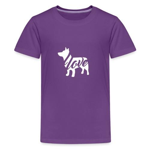 gööttilovetöpö - Teinien premium t-paita