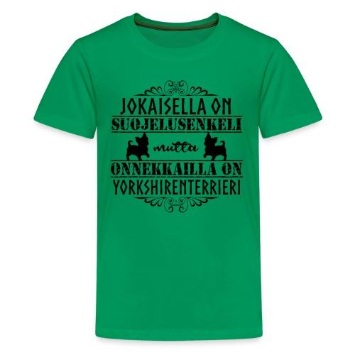 Yorkshirenterrieri Enkeli 5 - Teinien premium t-paita