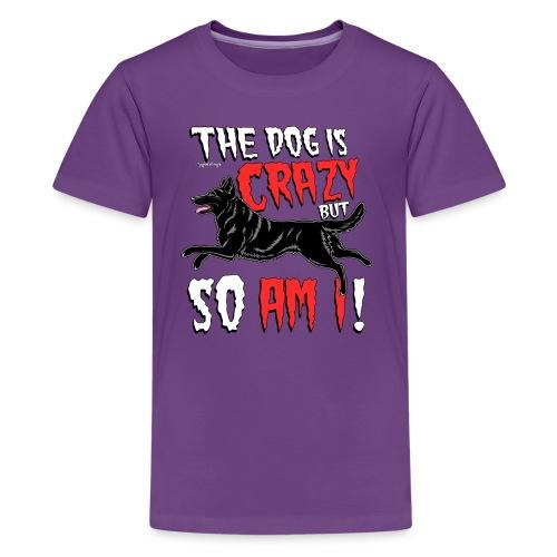 German Shepherd Crazy - Teinien premium t-paita