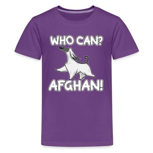 Who Can Afghan III - Teinien premium t-paita