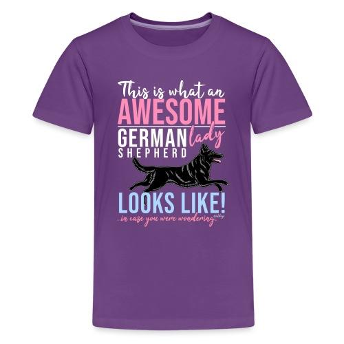 Awesome GSD Lady III - Teinien premium t-paita