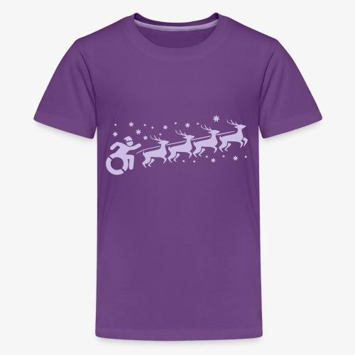 Santa WheelChair Mafia especially for Christmas - Teenager Premium T-shirt