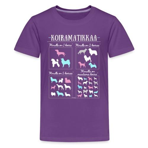 Koiramatikkaa II - Teinien premium t-paita