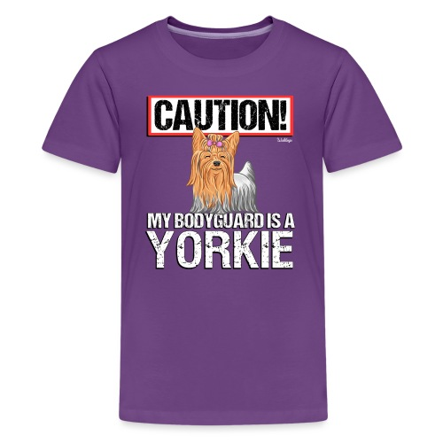 Yorkie Bodyguard - Teinien premium t-paita