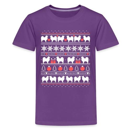 Suomenlapinkoira Joulu 01 - Teinien premium t-paita