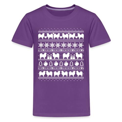 Suomenlapinkoira Joulu 02 - Teinien premium t-paita