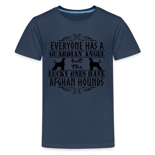 Afghan Hound Angels - Teenage Premium T-Shirt