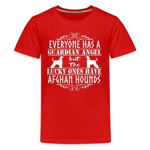 Afghan Hound Angels 2 - Teenage Premium T-Shirt