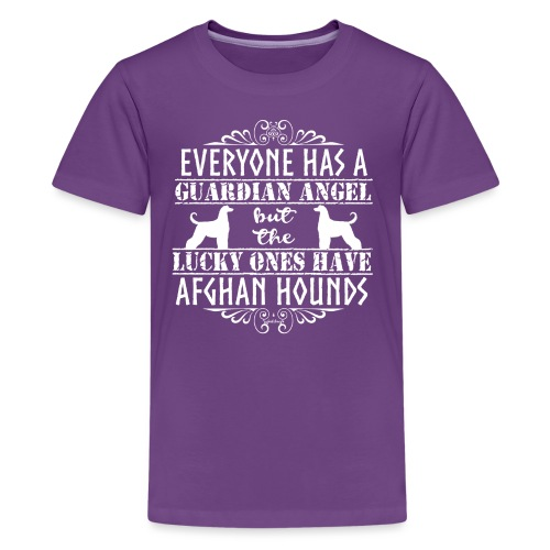Afghan Hound Angels 2 - Teenage Premium T-Shirt