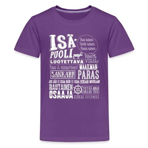 Isäpuolen Paita - Teinien premium t-paita