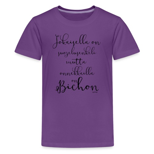 bichonenkelini2 - Teinien premium t-paita
