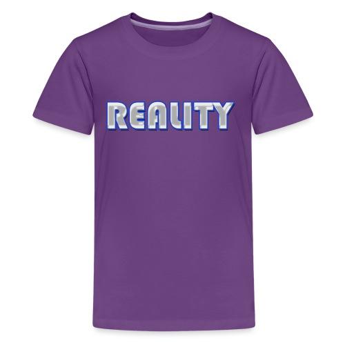 REALITY LOGO - Teenage Premium T-Shirt