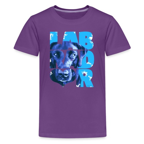 NASSU Labrador Black I - Teinien premium t-paita