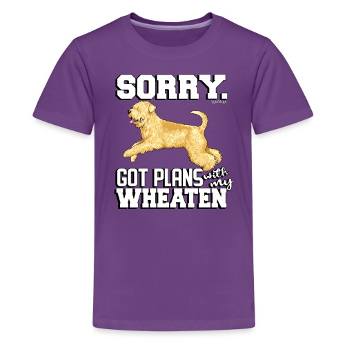 Wheaten Terrier Plans - Teenage Premium T-Shirt
