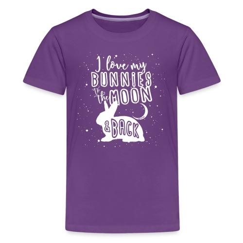 Bunny Rabbit Moon 2 - Teinien premium t-paita