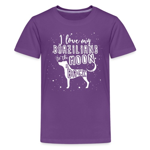 Brazilian Terrier Moon 3 - Teinien premium t-paita