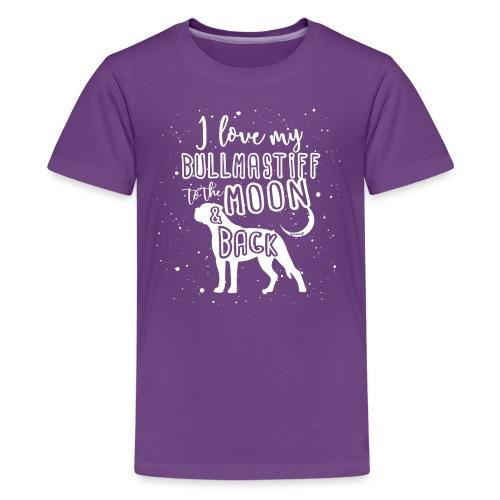 Bullmastiff Moon - Teinien premium t-paita