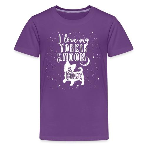 Yorkie Moon 2 - Teinien premium t-paita